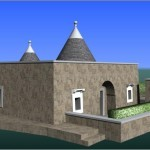 3D DRAWING OF RESTRUCTURING AND ENLARGEMENT OF A TRULLO HOUSE WITH SKETCHUP AND AUTOCAD